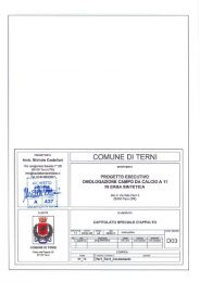 D03 - Capitolato Speciale d'Appalto - Comune di Terni