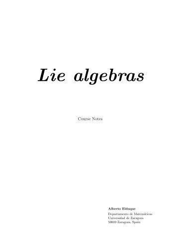 Lie algebras - Departamento de Matemáticas