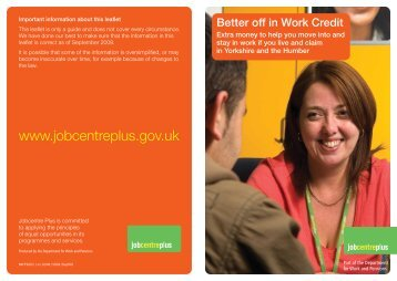 Be better off in work credit