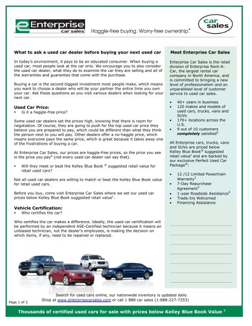 Retail Value Of Car >> What To Ask A Used Car Dealer Before You Buy A Used Car