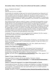 Psicoanálisis, Cultura e Historia: Temas sobre la Historia del ... - IDES