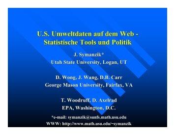 U.S. Umweltdaten auf dem Web - Statistische Tools und Politik