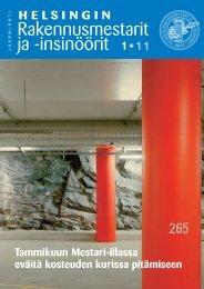 Yhdistyksen jäsenlehti 1/11, PDF tiedosto - Helsingin ...