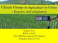 Impacts and adaptation