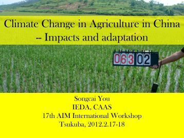 Impacts and adaptation