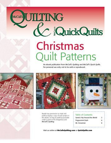 Quilt Patterns Christmas - McCalls Quilting