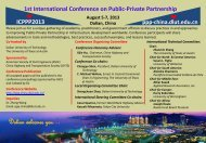 here - 1st International Conference on Public-Private Partnership