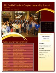 2012 Student Chapter Leadership Summit Report - the AAPG ...