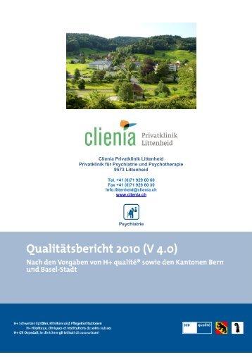Q-Bericht_Clienia Littenheid_2010 - Spitalinformation.ch