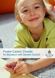 Foster Carers' Charter - Blackburn with Darwen Children's Service