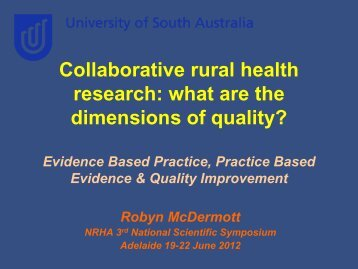 Slides only (PDF) - National Rural Health Alliance