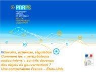 Diaporama présenté lors du séminaire de lancement du 13 ... - pnrpe