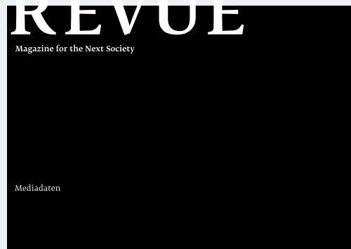 Download Mediadaten - Revue