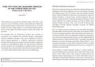 Akademik Terfiler, Bilimsel Atıflar, Dergi Kalitesi