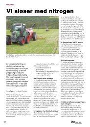 Vi sløser med nitrogen - Fagbladet Økologisk Landbruk