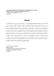 GARNET Working Paper No. 15/07