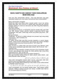Buku Hadist & Aqidah Yang Dianjurkan Oleh Syaikh Bin Baz