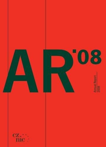 AR Annual Report 2008 - Cz.NIC