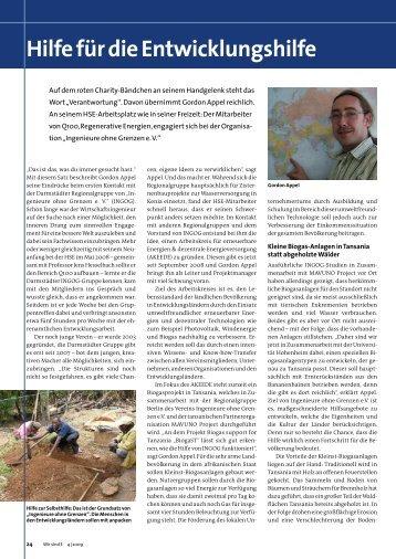 Hilfe für die Entwicklungshilfe.pdf - Ingenieure ohne Grenzen