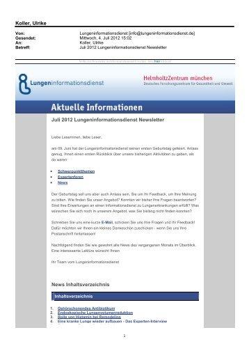 Juli 2012 - Lungeninformationsdienst