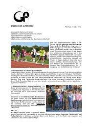 Rundbrief März 2013 - Gymnasium Altenholz