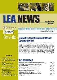 LEA NEWS Ausgabe 1/2012 - Leadership Academy