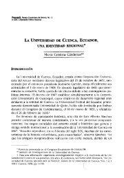 LA UNIVERSIDAD DE CUENCA, ECUADOR, UNA IDENTIDAD ...