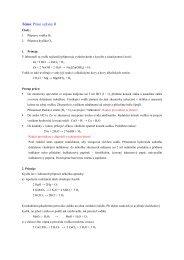 Téma: Práce s plyny II - Chemie na GJO