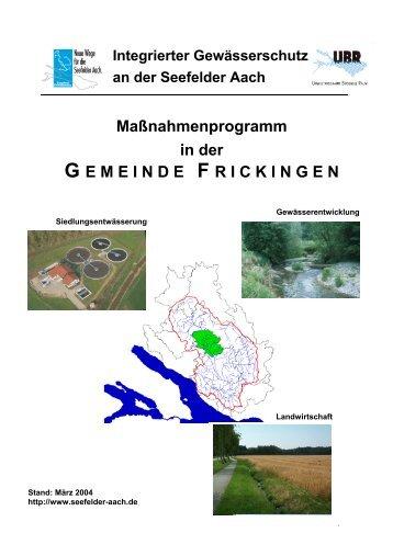 Frickingen - Aktionsprogramm Seefelder Aach