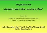 Projektové dny ,,Tajemný svět rostlin - semena a ... - Chemie na GJO