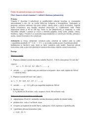 Úloha: Kvantitativní stanovení vitamínu C Úkol ... - Chemie na GJO