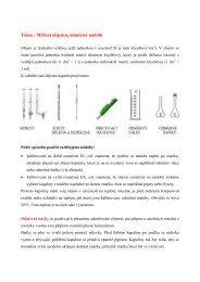 Odměrná analýza - Chemie na GJO