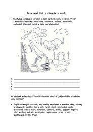 Pracovní list z chemie – voda