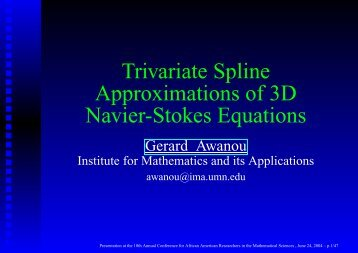 The Navier-Stokes equations - Department of Mathematical Sciences