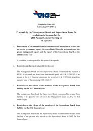 Recommendations of the Management Board and ... - Flughafen Wien