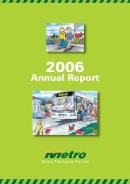 Annual Report for 2005/06 - Metro Tasmania