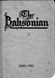 The Babsonian - Babson College