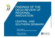 findings of the oecd review of regional innovation - Region Midtjylland