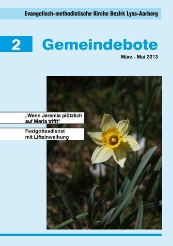 Gemeindebote 2/2013 - EMK Lyss
