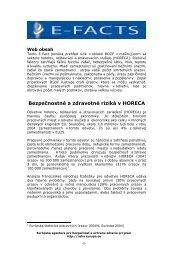 Bezpečnostné a zdravotné riziká v HORECA