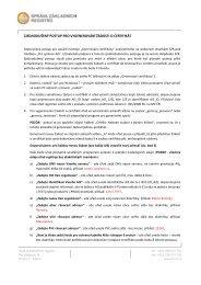 zjednodušený postup pro vygenerování žádosti o certifikát - Správa ...
