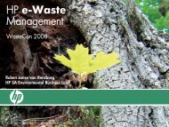 HP e-Waste Management - E-Waste Guide