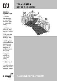 Teplá dlažba návod k instalaci - V-System elektro