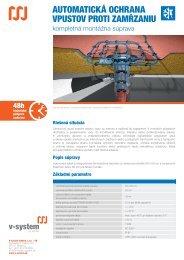 automatická ochrana vpustov proti zamŕzaniu - V-System elektro