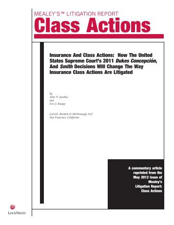 Insurance And Class Actions: How The United States Supreme ...