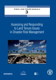 Assessing and Responding to Land Tenure Issues in Disaster ... - FAO