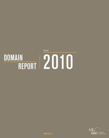 Domain Report 2010 - Cz.NIC