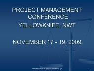Construction Law Update 4th Annual Construction Law Conference