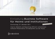 Einladung Business Software für Heime und Institutionen - Axept