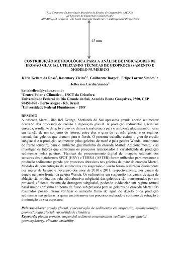contribuição metodológica para a análise de indicadores ... - ABEQUA